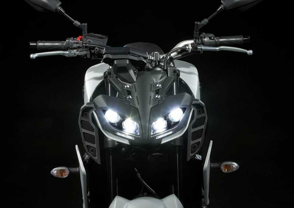 Aggressively styled twin-eye LED headlights