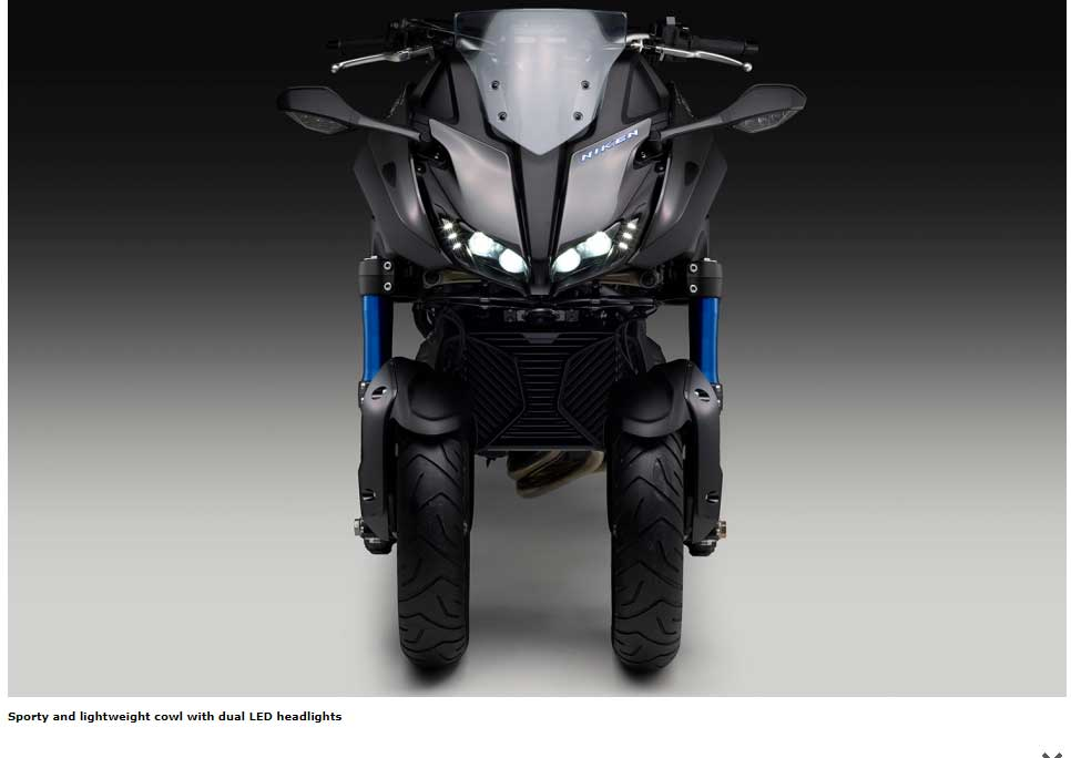 Sporty and lightweight cowl with dual LED headlights