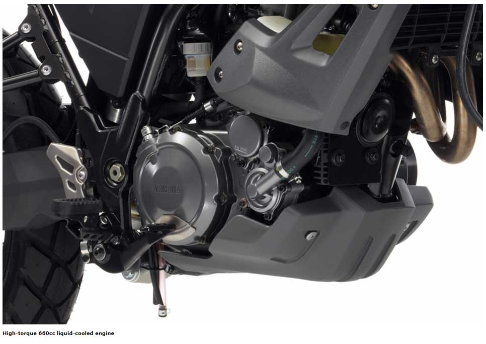 High-torque 660cc liquid-cooled engine