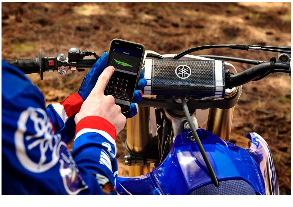 Yamaha's exclusive Power Tuner app puts the flexibility and precision tunability of the GYTR® Power Tuner into your smartphone. Make fueling and ignition timing changes instantly and upload them to the bike via the onboard WiFi system for the ultimate in track-side tuning.